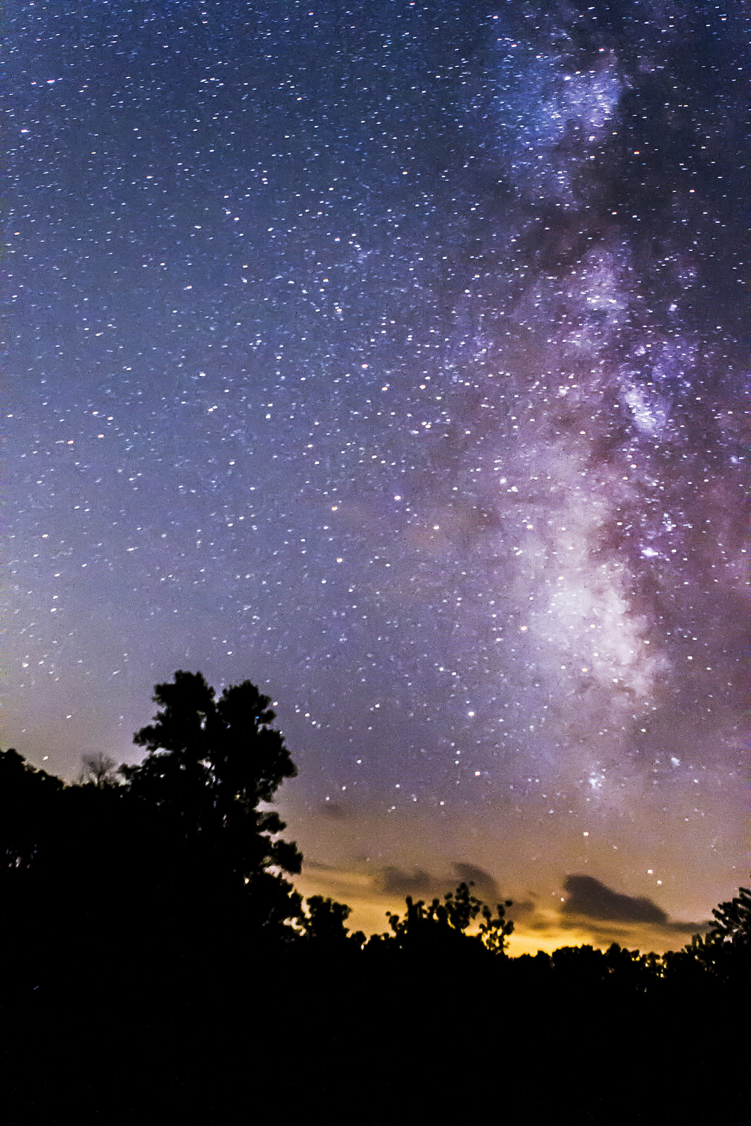 Take pictures of the milky way galaxy without telescope you can still see from this park