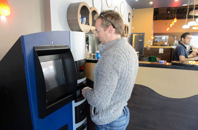 Bitcoin ATM machine available at a store near you