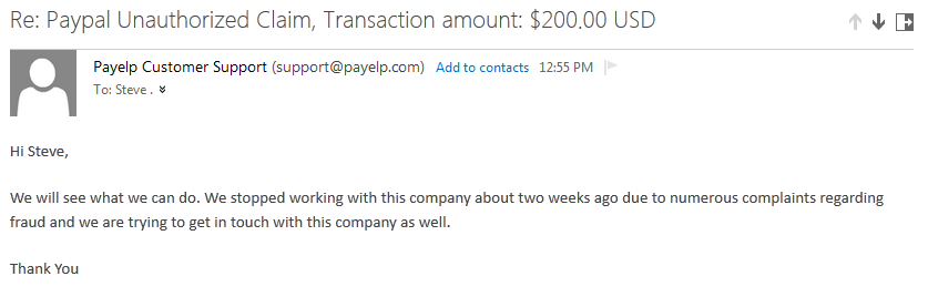 paypal payelp stopped doing business with coingeneration.com confirmed as of November 2013