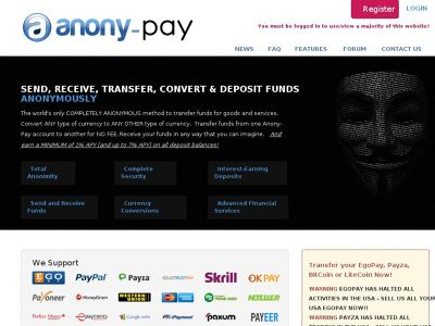 anony-pay.com scam online currencies exchange
