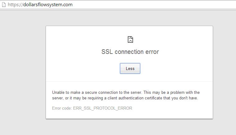 SSL https website dollarsflowsystem.com now working error