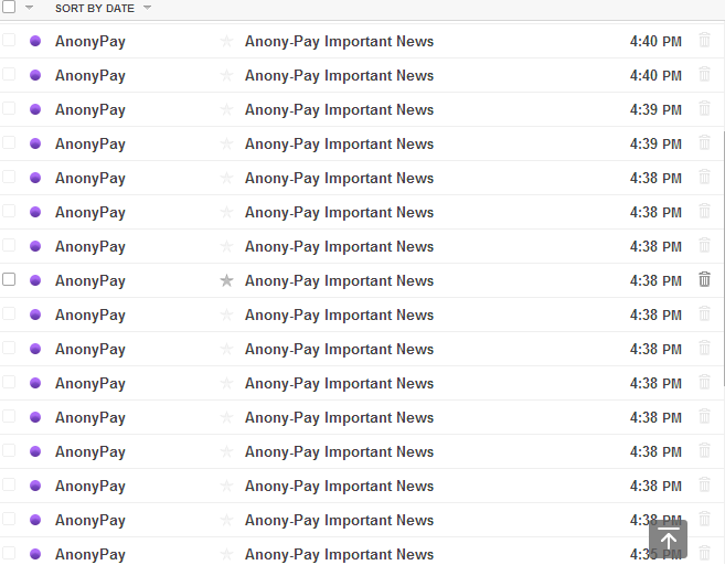 anony-pay.com spam ipuservices.com members registered email massive email to get people into the new scam