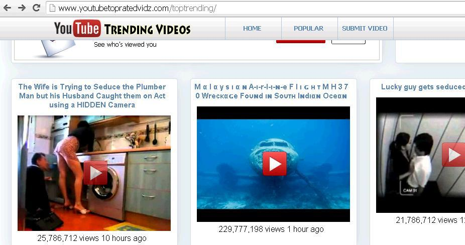 scam fraud website youtubetopratedvidz.com hoax websites transmitting fake information to social media for hacking