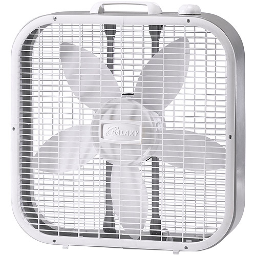 don't use this cheap square box fan to pull or ventilate air out the window it doesn't work well because of the edge corners gaps