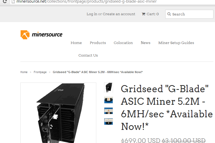 minersource.net g-blade customer experience