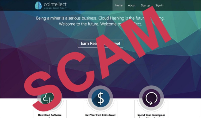 cointellect.com manually manipulate members earning scam