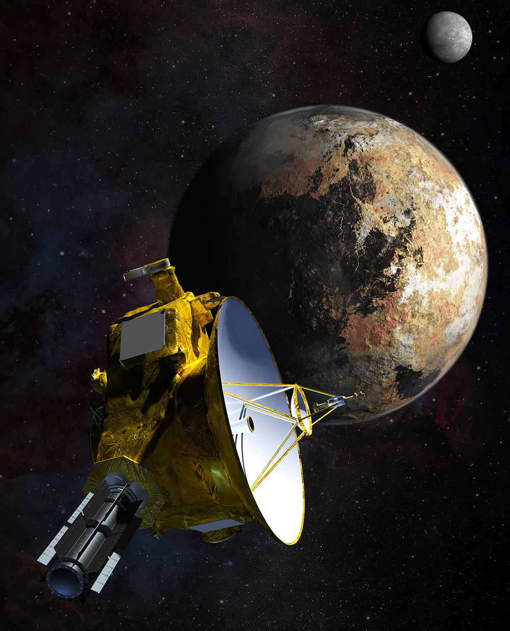9 years to walk to Pluto New Horizon spacecraft