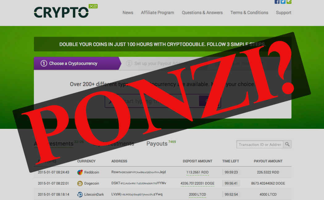 cryptodouble.com hoax fake ponzi scheme scam stealing your cryptocoins